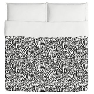Zebra Black And White Duvet