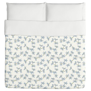 Blue Rain Flowers Duvet Cover