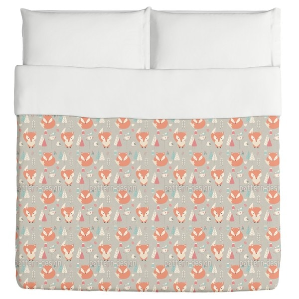 Baby Foxes Duvet Cover