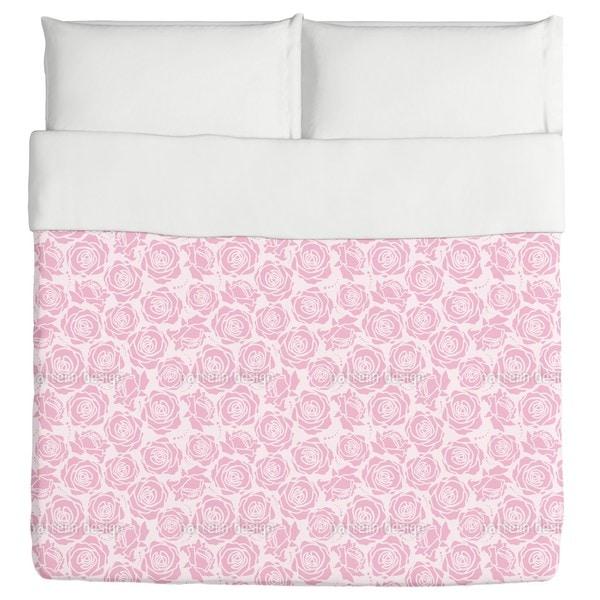 Rose Blossoms Lilac Duvet Cover