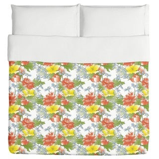 Asian Flower Bouquet Duvet