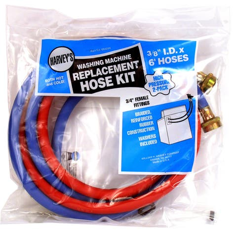 WM Harvey 93220 6' Red & Blue Washing Machine Inlet Hoses 2 Count