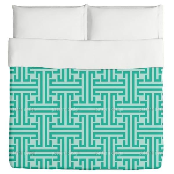 Emerald Labyrinth Duvet Cover