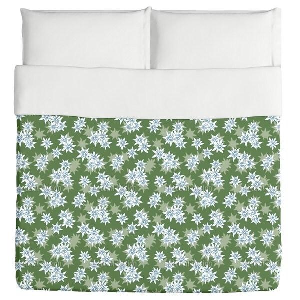 Edelweiss Green Duvet Cover