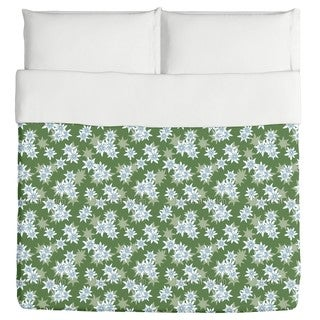 Edelweiss Green Duvet Cover