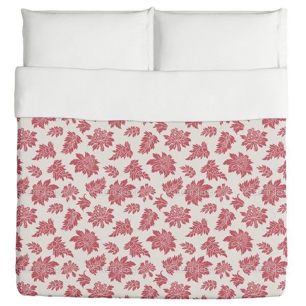 Baroque Bloom Red Duvet Cover
