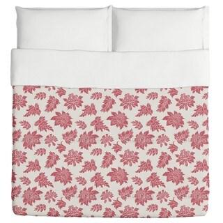 Baroque Bloom Red Duvet Cover