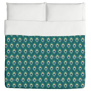 Thousand And One Peacock Feathers Duvet