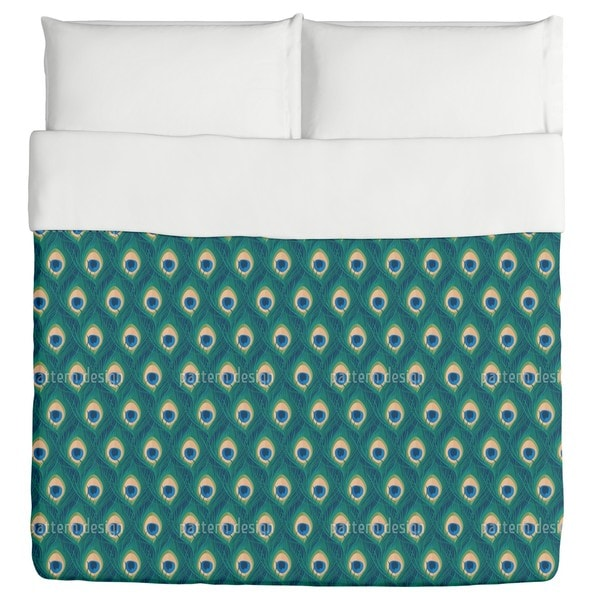 Thousand And One Peacock Feathers Duvet Cover