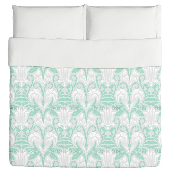 Damasko Green Duvet Cover