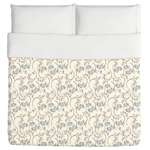 Blueberry Branches Duvet Cover