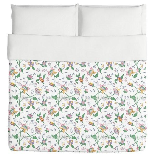 Little Flower Fantasy White Duvet Cover