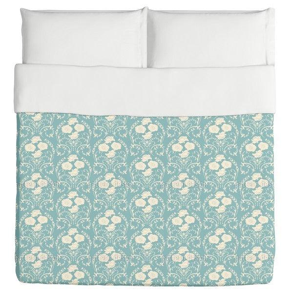 Rose Blue Duvet Cover