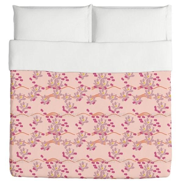 Lotus Love Pink Duvet Cover