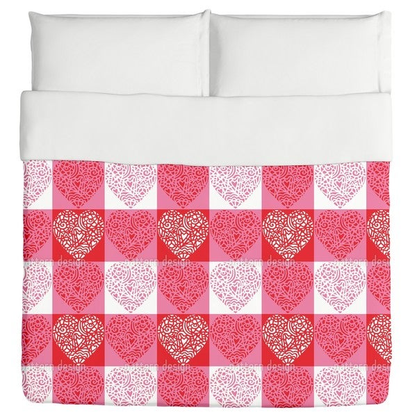 Hearty Red Duvet Cover