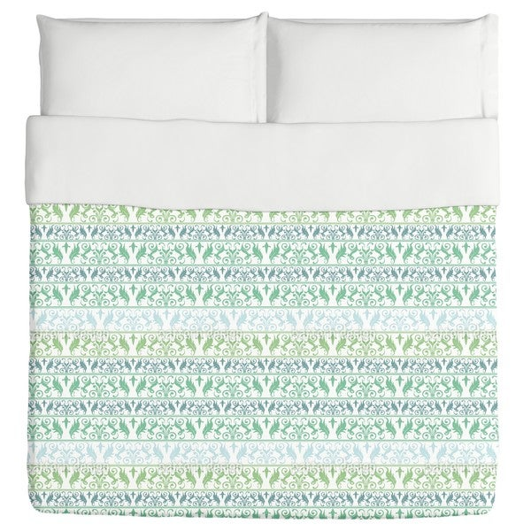Encora Green Duvet Cover
