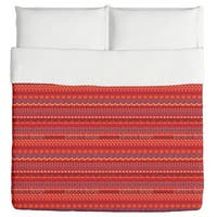 Multi Kulti Red Duvet Cover
