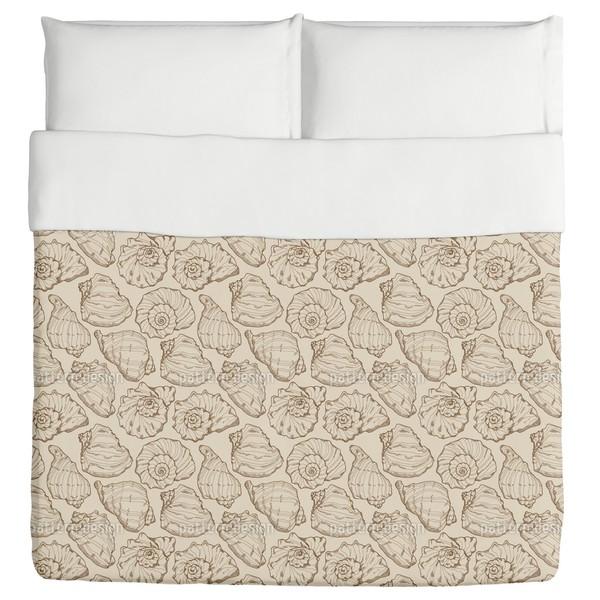 Seashells Sand Duvet Cover
