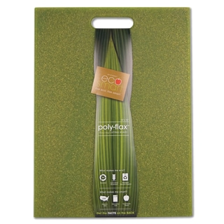 "EcoSmart ECOFLX16G 12"" X 16"" Green EcoSmart Poly Flax Cutting Board"