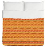 Multi Kulti Orange Duvet Cover