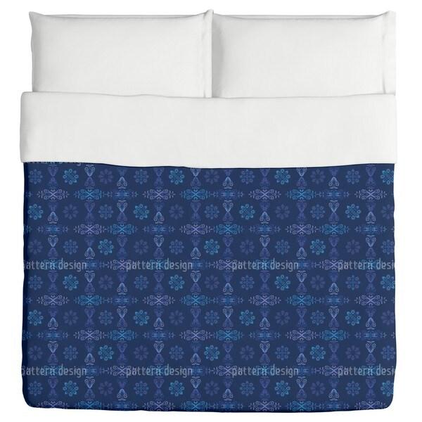 Renaissance Crystal Blue Duvet Cover