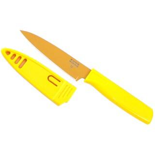 """Kuhn Rikon 2816 4"""" Blade Yellow Paring Knife"""