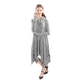 Hadari Women's Long Sleeve Scarf Neck Tunic