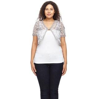Hadari Women's Plus Size Long Sleeve Round Neck Sweater