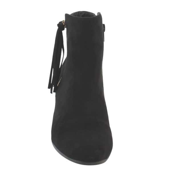 Nature Breeze Women/'s Round Toe Tassel Low Heel Ankle Boot