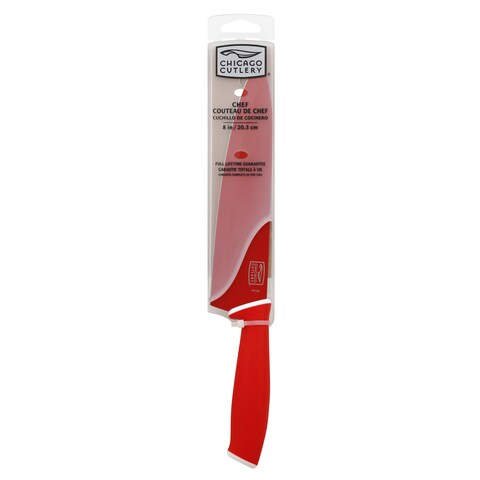 """Chicago Cutlery 1106367 8"""" Red Chef Knife"""