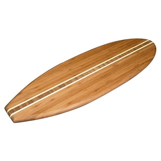 "Totally Bamboo 20-7635 23"" X 7"" X 5/8"" Bamboo Surfboard Cutting Board"