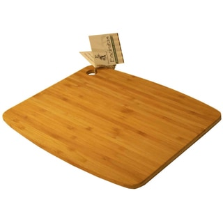 "Island Bamboo CA18MG 18"" X 12"" Large Bamboo Cutting Board With Handle"