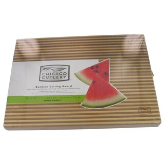 "Chicago Cutlery 1075494 12"" X 16"" Two Tone Bamboo Cutting Board"