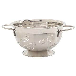 Norpro 232 3 Quart Stainless Steel Cherry & Leaves Design Colander