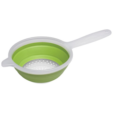 Progressive CC-120 1.5 Quart Green Collapsible Hand Strainer