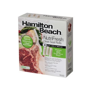 Hamilton Beach NutriFresh Pack of 3 8 in x 20 ft Heat-Seal Rolls