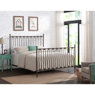 Winslow Upholstered Metal Queen-size Bed