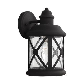 Sea Gull Lakeview 1 Light Black Wall Lantern