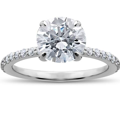 14k White Gold 1 3/4ct Lab Grown Eco Friendly Diamond Sophia Engagement Ring