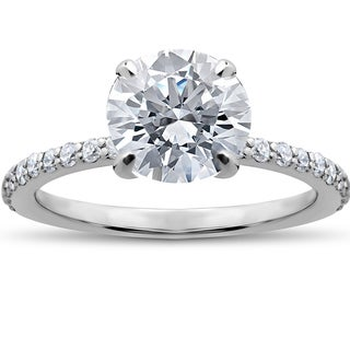 14k White Gold 1 3/4ct Lab Grown Eco Friendly Diamond Sophia Engagement Ring (F-G, SI1-SI2)