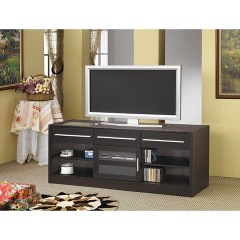 "Coaster Company Cappuccino-Finished Multi-Drawer TV Console - 59.75"" x 17.75"" x 23.50"" - 59.75"" x 17.75"" x 23.50"""