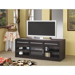 Cappuccino-Finished Multi-Drawer TV Console
