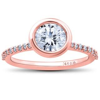 14k Rose Gold 1 3/4ct TDW Charlotte Lab Grown Diamond Engagement Ring (F-G, SI1-SI2)