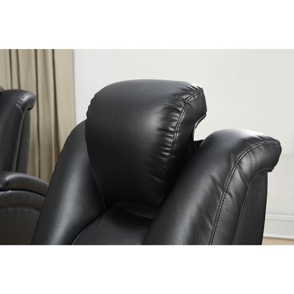 Fantastic Shop Coaster Company Black Leatherette Power Recliner Motion Gmtry Best Dining Table And Chair Ideas Images Gmtryco