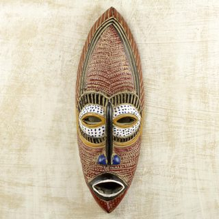 Handmade Adamma Sese Wood Mask (Ghana)
