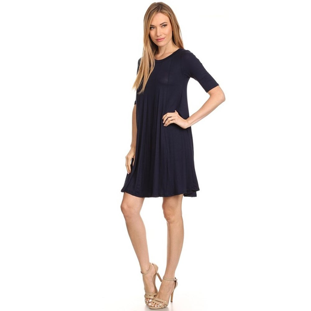 Womens Solid Short Dress