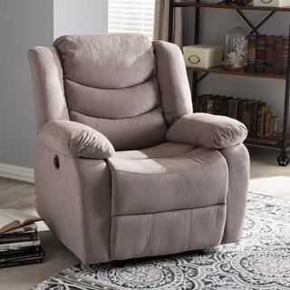 Baxton Studio Eunike Modern Tufted Power Recliner Chair