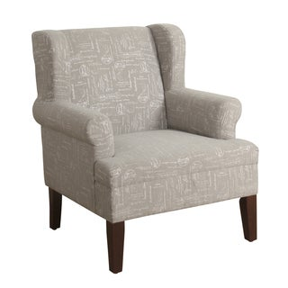 HomePop Emerson Wingback Accent Chair Pewter