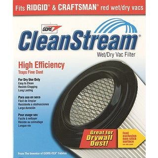 Shop Vac 903-61-00 CleanStream High Efficiency Wet & Dry Vac Cartridge Filter