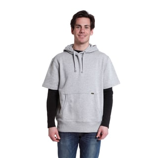 Stanley Men's Grey French Terry Short-sleeve Hoodie